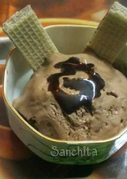 Creamy Chocolate-Cookie Ice cream