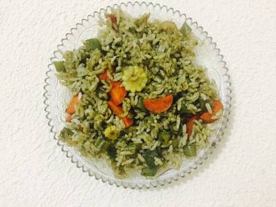 Coriander mint rice