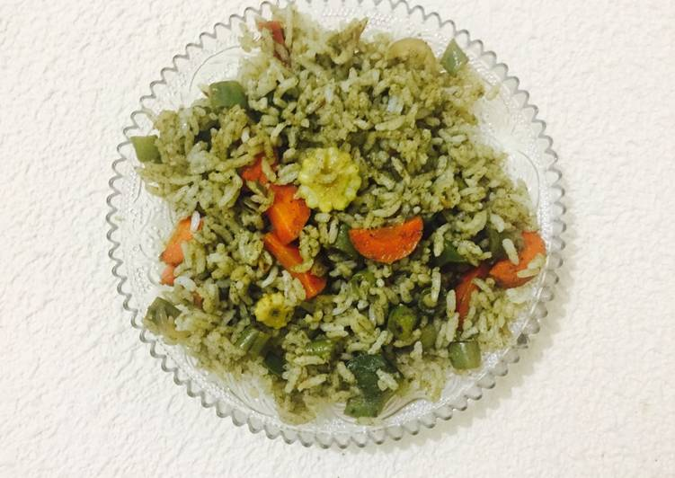 Coriander mint rice
