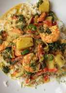 Shrimps coconut curry