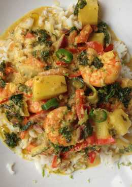 Shrimps coconut curry