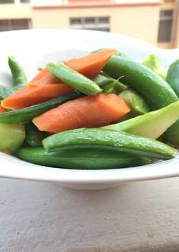Sugar Snap Pea And Carrot With Anchovies Sauce