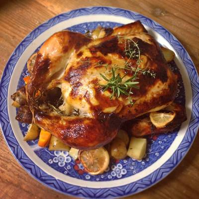 Whole Roast Chicken with Lemon & Herbs