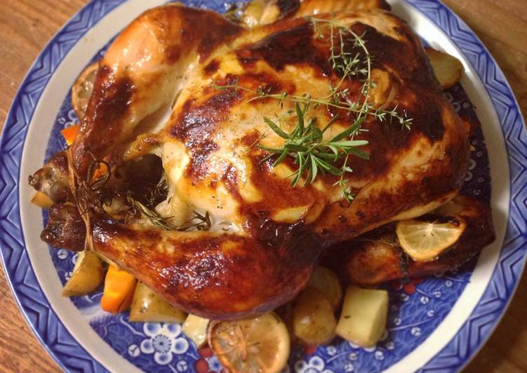 Whole Roast Chicken with Lemon & Herbs