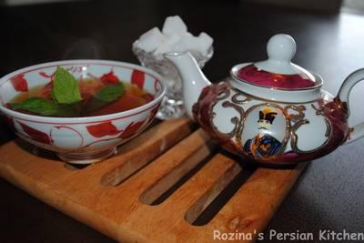 Persian tea (Chai چای)