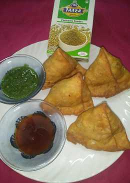 Homemade samosa