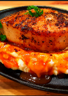 resep masakan mikes thick cut top loin pork chops over mashed potatoes