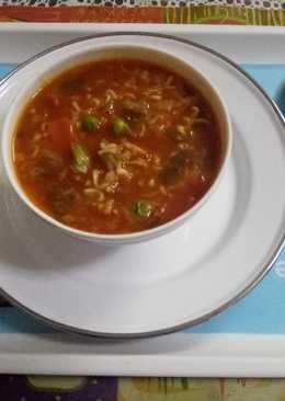 Schezwan noodles soup