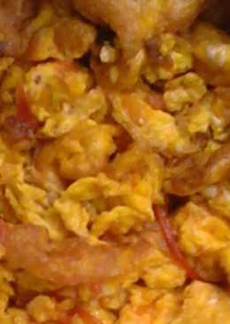Fried kienyeji eggs