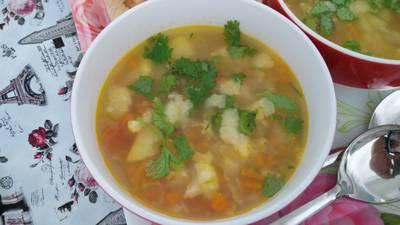 Winter mix veg soup