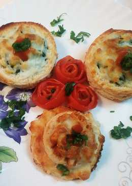 Spinach bread canapes