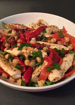 Coriander and lime chicken with chickpea salad