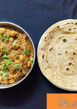 Chole with laccha paratha