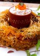 Shahi Mushroom and Baby Corn Biryani
