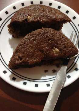 Finger millet banana walnut cake