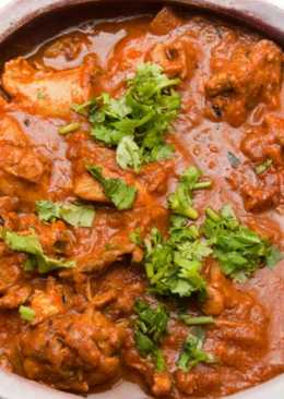 Quick and simple chicken curry