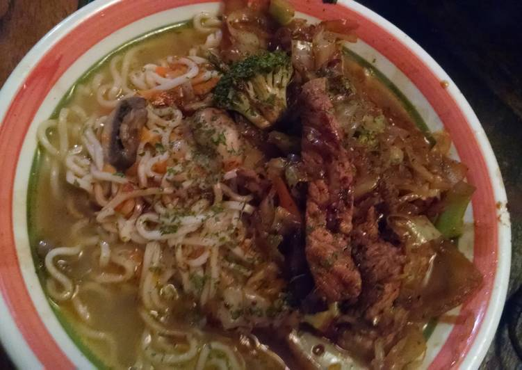 Pork Stir-fry Ramen Bowl Recipe by Mendia Street-Council