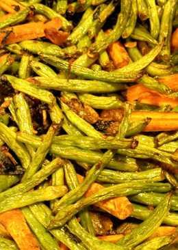 Dry Roasted string beans in tamari sauce