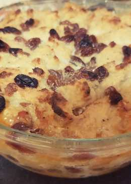 Bread pudding with Sultanas,