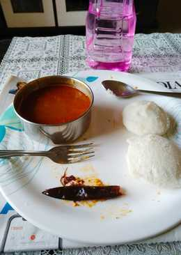 Idli-Sambar from Yesternight leftover Rice and Daal
