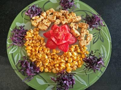 Paneer corn salad