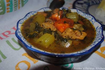 Persian celery stew (khoresh karafs)