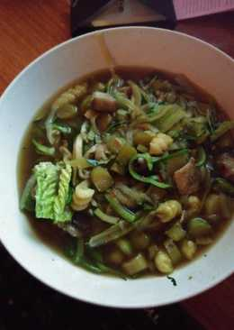 Asian asparagus zoodle vegan stew