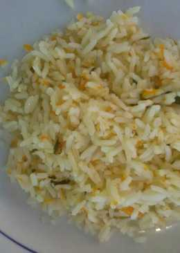 Carrot rice with egg