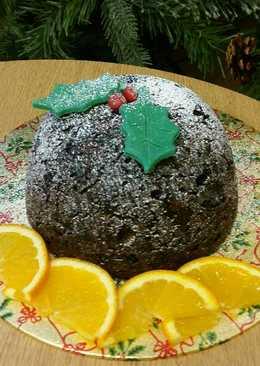 Vickys Chocolate Orange Christmas Pudding, GF DF EF SF NF Vegan