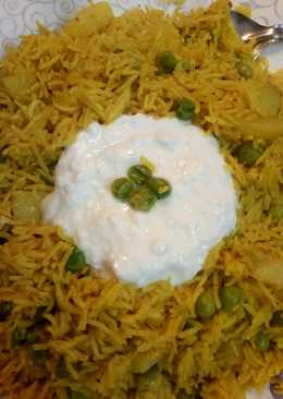 Tawa pulav with curd