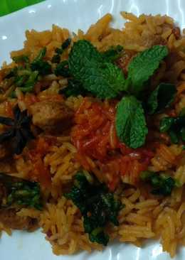 Soyachunks colourful biryani