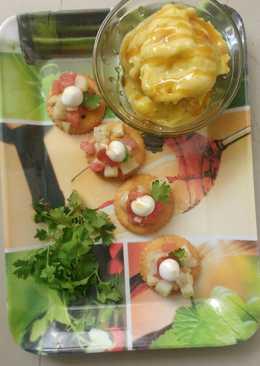 Mango honey almond icecream with monaco bites
