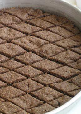Kibbeh baked in tray - kibbeh bil saynieh