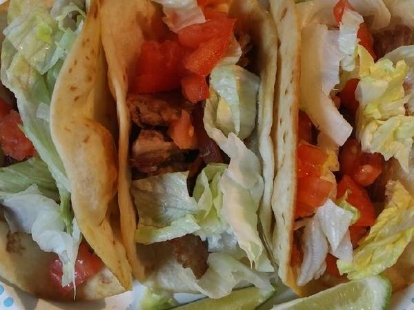 Twice Cooked Pork Roast Fried Tacos