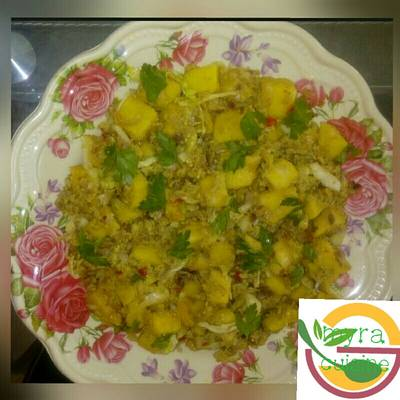 Boiled yam in egg sauce