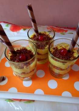 Lemon chocolate crunch pudding