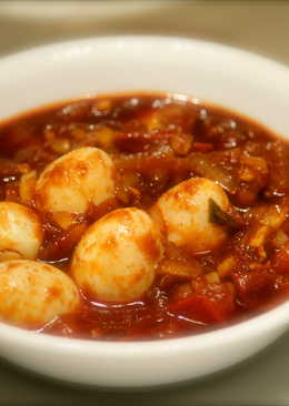 Quail Eggs In Red Chilli Sauce
