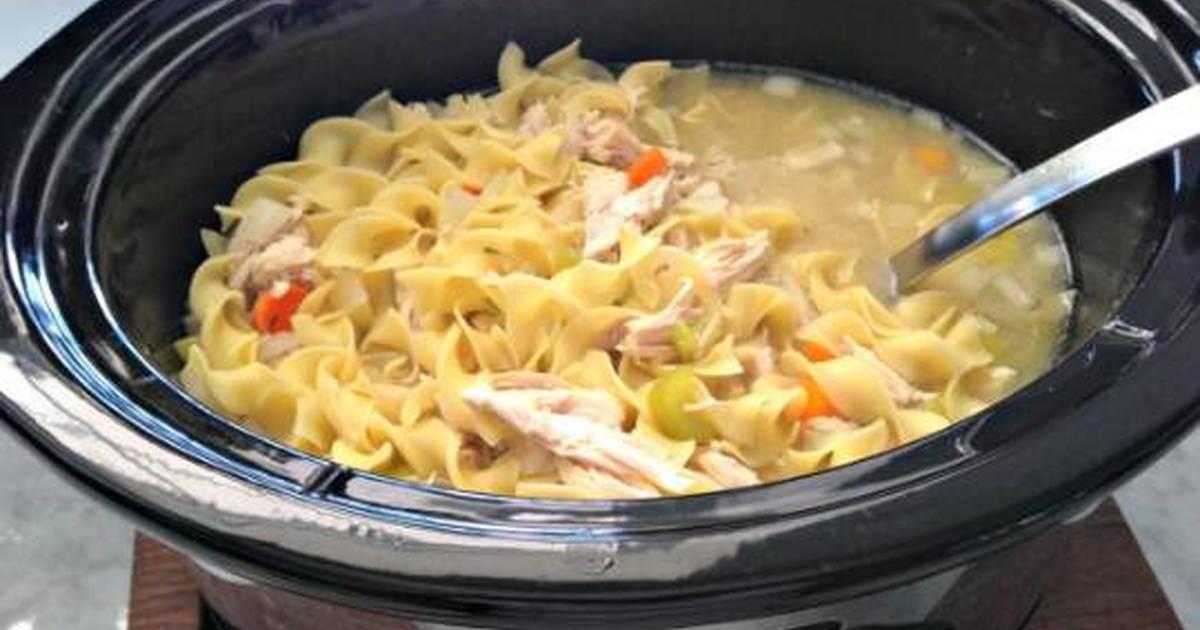 Crock Pot Chicken Noodle Soup Recipe By Maranda Treece
