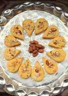 Eggless Almond and Custard powder cookies