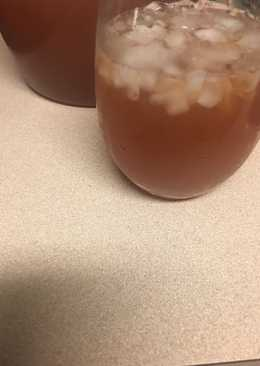 Lemonade peach tea punch aka fountain of youth juice