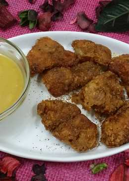 Lahori Fried Fish With Honey Mustard Dip.