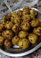 #Healthy steamed sooji balls starter