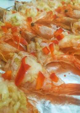 Garlic shrimp with cheese