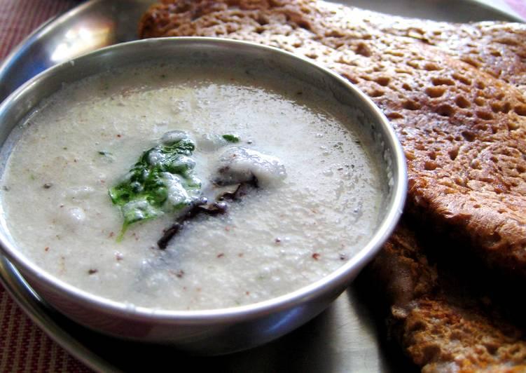 Ragi Dosa with Coconut Chutney (Finger Millet Dosa)