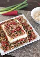 resep masakan ground meat steam tofu