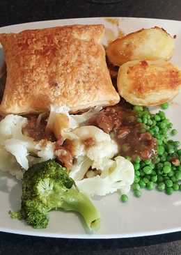 Slow cooked beef & kidney pie (the cheating way)