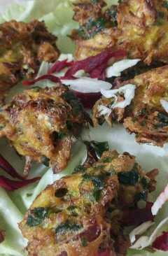 resep masakan cabbagespinach n onion pakoda
