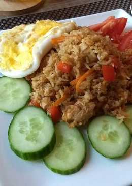 resep masakan indonesian nasi goreng fried rice with chicken