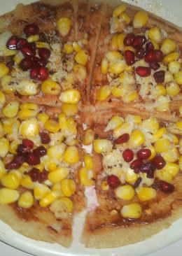 Dosa base corn chesse pizza