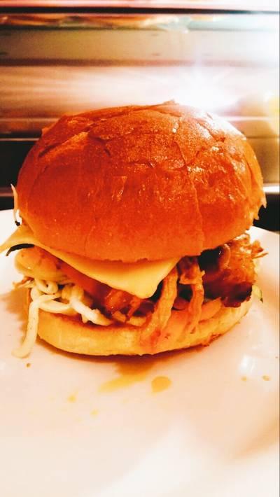BBQ Pulled Pork 'Burgers' in Brioche Buns